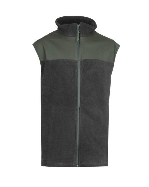 Rains Forest Green Fleece Vest for men