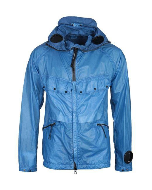 C P Company Nyber Ocean Blue Explorer Goggle Jacket for men