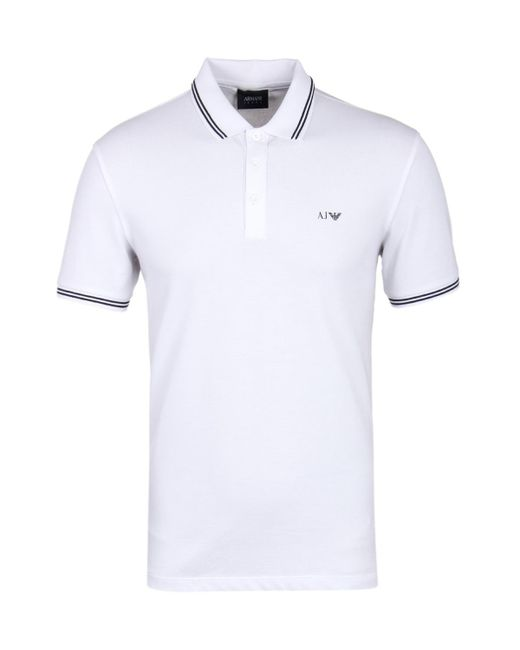 Armani Jeans | White Twin Tipped Short Sleeve Polo Shirt for Men | Lyst