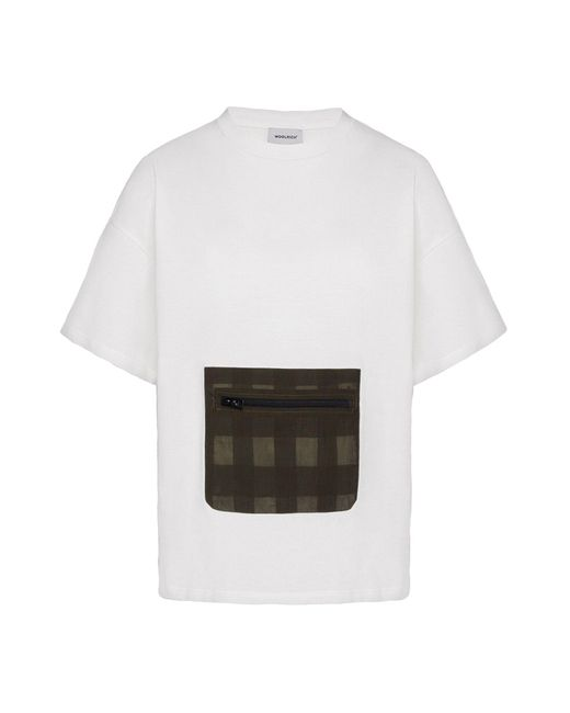 Woolrich White Large Pocket T-shirt