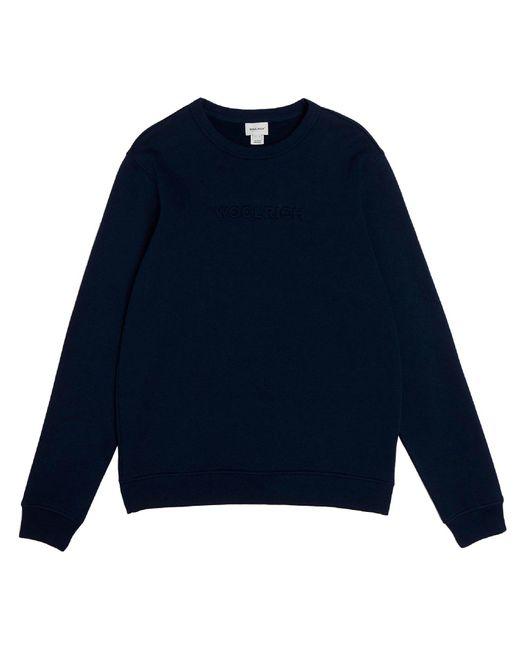 Woolrich Blue Luxury Crewneck Sweatshirt