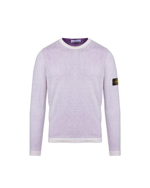 Stone Island - Purple Reversible Cotton Gauze Sweater for Men - Lyst