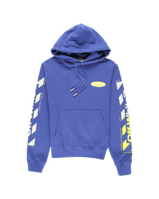 640774b024d7 Lyst - Off-White c o Virgil Abloh Diag Split Logo Hoody in Blue for Men