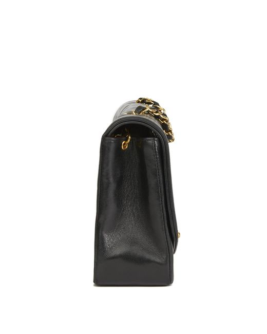 e9ba62ab514d ... Chanel - Black Quilted Lambskin Vintage Medium Diana Classic Single  Flap Bag - Lyst ...