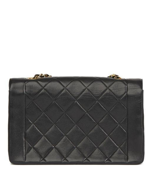 137c0c5df ... Chanel - Black Quilted Lambskin Vintage Medium Diana Classic Single  Flap Bag - Lyst ...