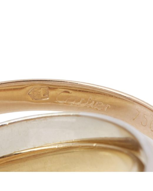 Cartier - Multicolor 18k Yellow, White & Rose Gold Small Trinity Ring - Lyst
