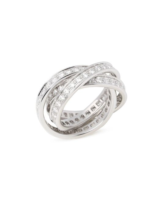 Cartier Metallic Trinity Full Diamond Ring