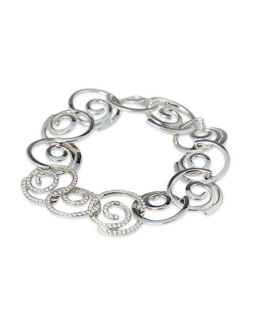 Breguet Metallic 18k White Gold Diamond Circle Link Bracelet