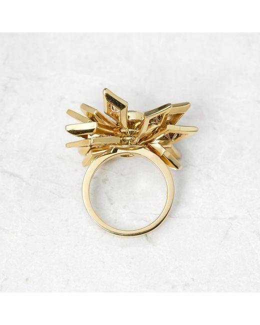 De Beers Metallic 18k Yellow Gold Fancy Brown & White Diamond Dress Ring