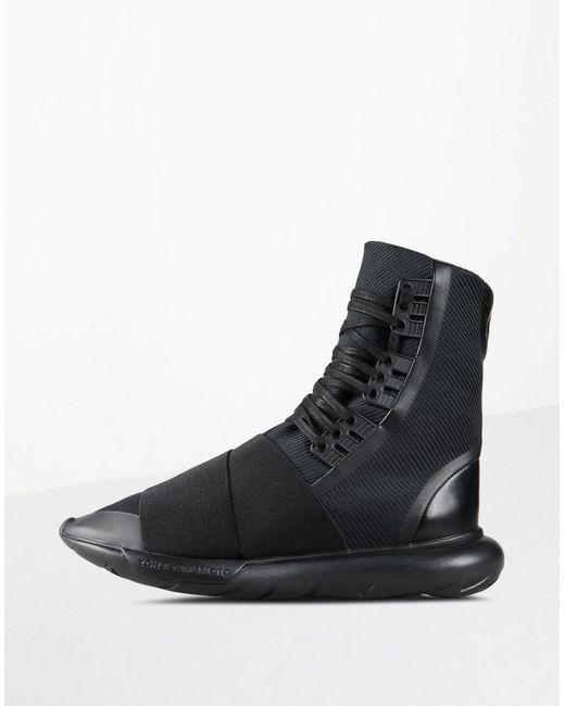 Y-3 | Black Qasa Boot High-top Sneakers for Men | Lyst