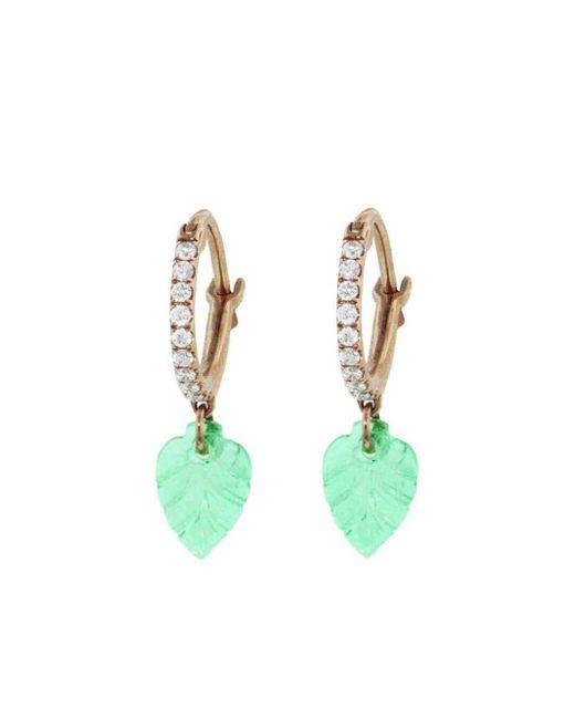 Raphaele Canot - Multicolor Set Free Emerald Leaves Earrings - Lyst