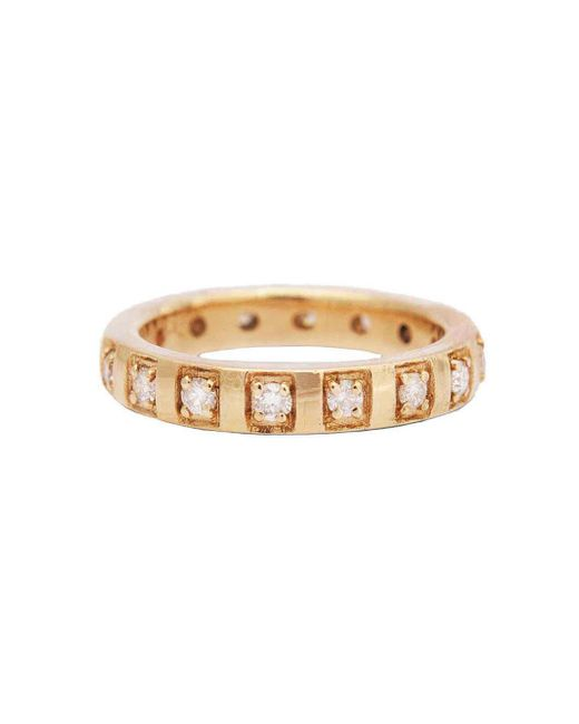 Larisa Laivins - Multicolor Notched Diamond Band Ring - Lyst