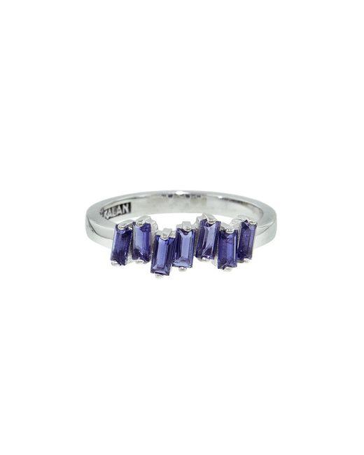 KALAN by Suzanne Kalan Metallic Uneven Baguette Iolite Ring