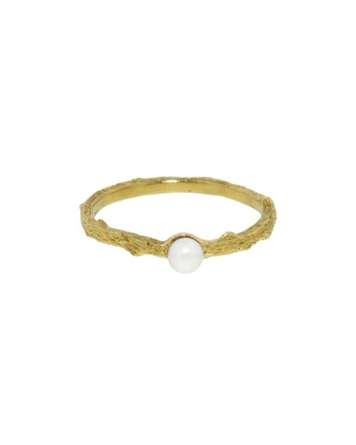 Cathy Waterman - Multicolor Cultured Pearl Center Branch Thorn Band Ring - Lyst