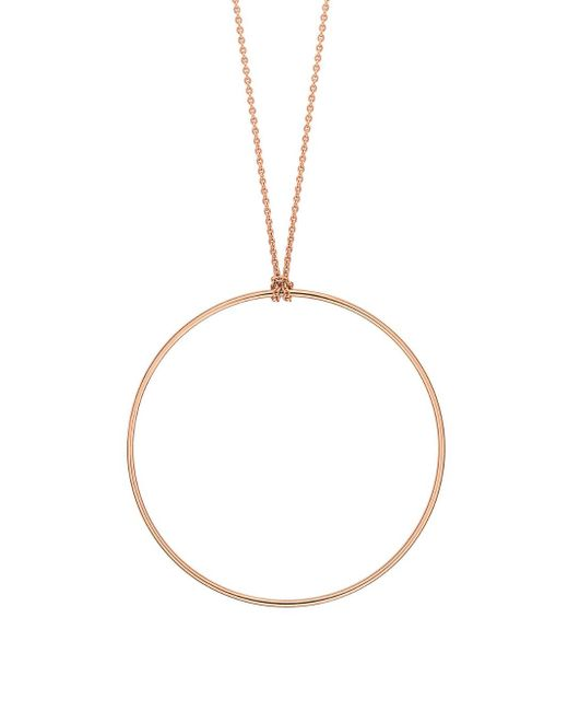 Ginette NY - Metallic Circle Chain Necklace - Lyst