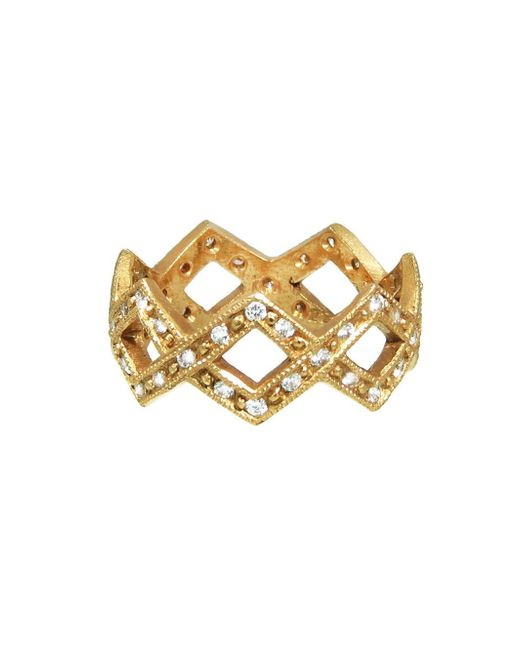 Cathy Waterman - Multicolor Braided Diamond Ring - Lyst