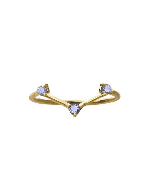 Wwake - Multicolor Three-step Tonal Sapphire Ring - Lyst