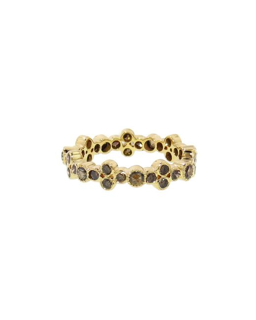 Sethi Couture - Multicolor Brown Diamond Bezel Cluster Band Ring - Lyst