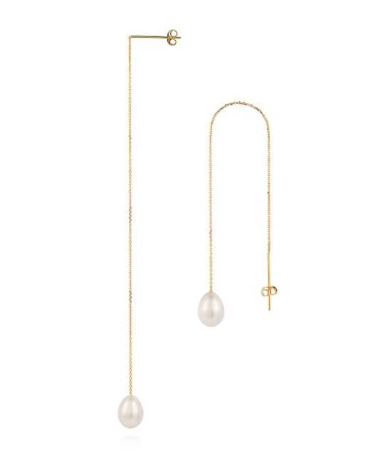 Sweet Pea By Stacy Frati - Multicolor Thread Through Pearl Drop Earrings - Lyst