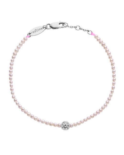 RedLine - Multicolor Pure Diamond And Pink Pearl Bracelet - Lyst