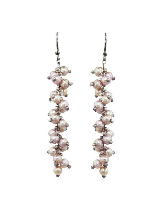 Ten Thousand Things - Multicolor Pink Pearl Long Spiral Earrings - Lyst