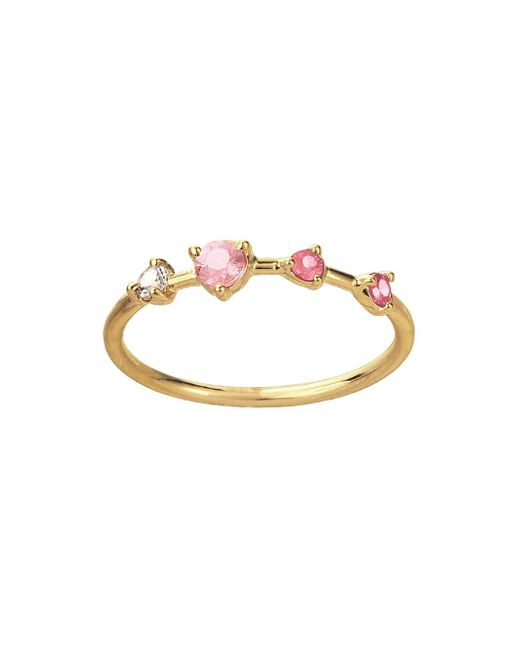 Wwake - Multicolor Large Four-step Blush Ring - Lyst