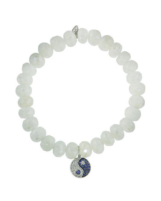 Sydney Evan 14k Apatite Beaded Stretch Bracelet w/ Diamond Yin Yang p15UtbmFxe