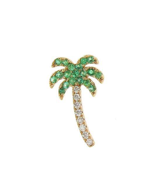 Sydney Evan - Multicolor Emerald Palm Tree Single Stud Earring - Lyst