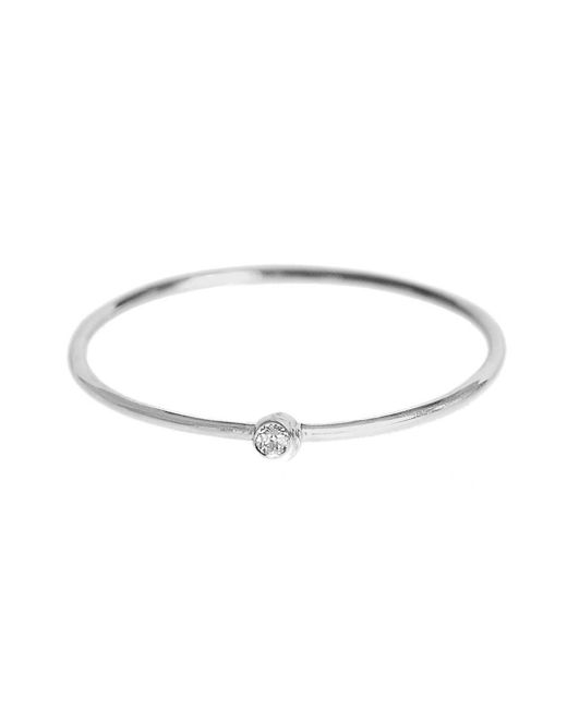 Jennifer Meyer - Multicolor Thin Diamond Stacking Ring - Lyst