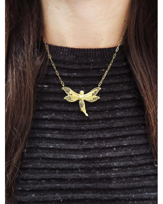 Lyst cathy waterman diamond fairy pendant necklace in metallic cathy waterman metallic diamond fairy pendant necklace lyst aloadofball Image collections