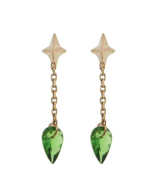 Raphaele Canot - Multicolor Set Free Tsavorite Chain Earrings - Lyst