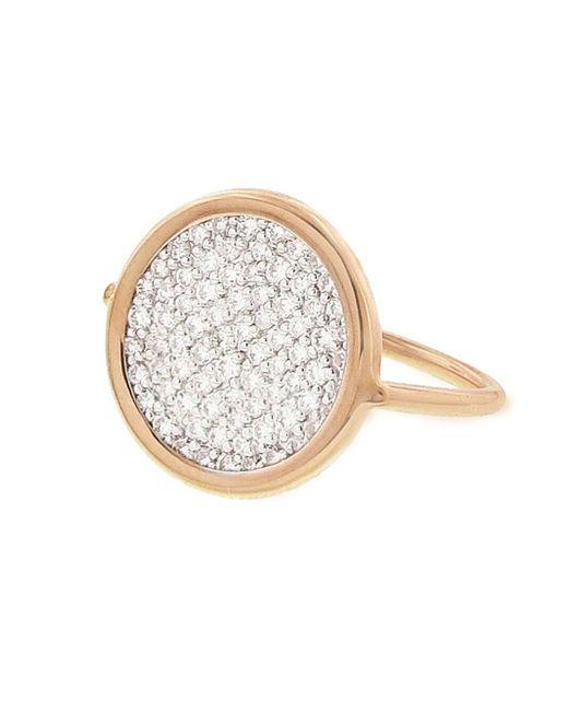 Ginette NY - Metallic Diamond Disc Ring - Lyst
