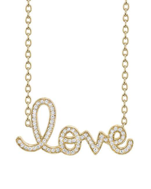Sydney Evan - Multicolor Extra Large Pavé Love Necklace - Lyst