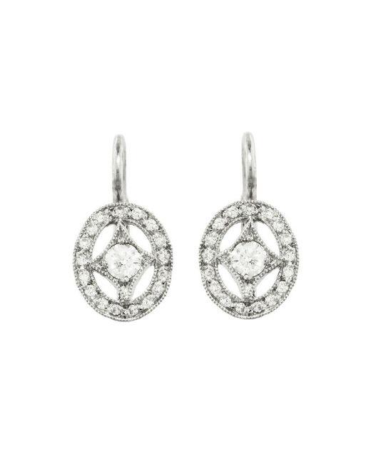 Cathy Waterman - Multicolor Oval Diamond Frame Earrings - Lyst