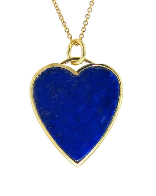 Jennifer Meyer - Blue Lapis Inlay Heart Pendant Necklace - Lyst