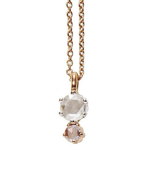 Sethi Couture - Multicolor Double Graduated Rose Cut Diamond Necklace - Lyst