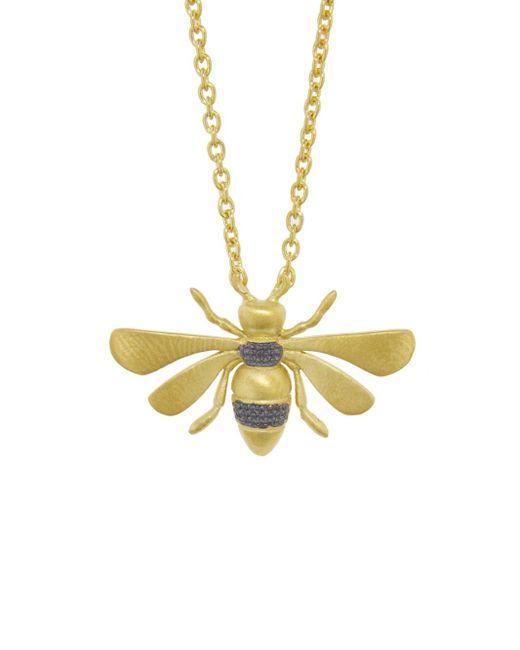 Ileana Makri Multicolor Bee Necklace