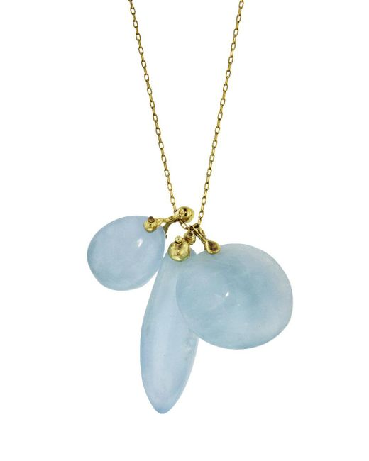 Ten Thousand Things - Blue Aquamarine Triple Turtle Fetish Charm Necklace - Lyst