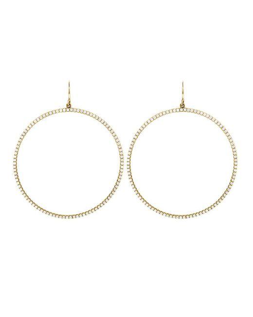 Jennifer Meyer - Metallic Diamond Open Circle Hoop Earrings - Lyst
