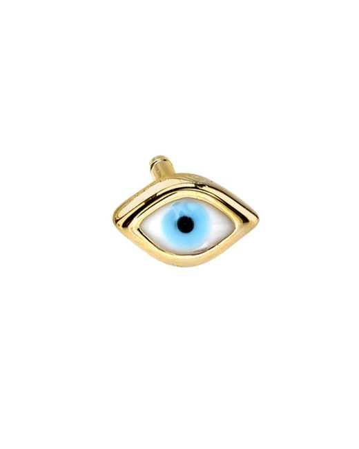 Sydney Evan - Multicolor Turquoise And Diamond Evil Eye Stud Earring - Lyst