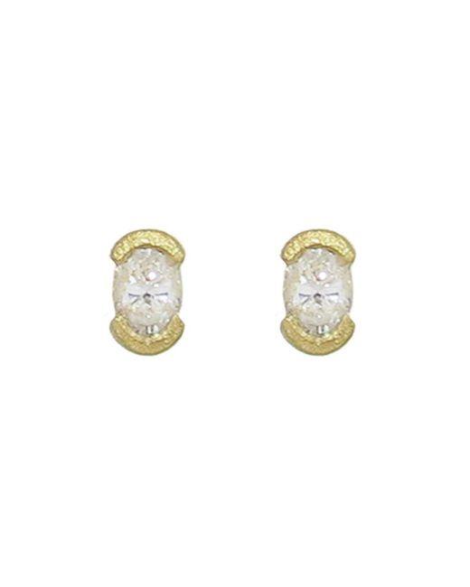 Tate - Multicolor Oval Diamond Stud Earrings - Lyst