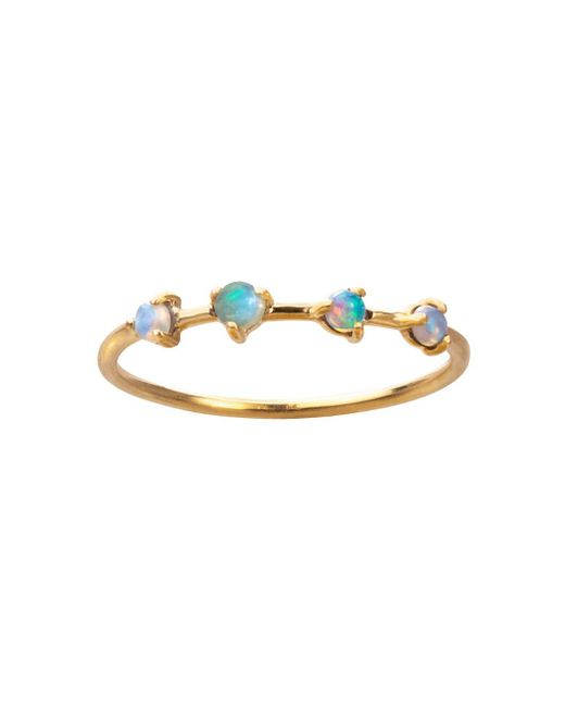 Wwake - Multicolor Large Four-step Opal And Diamond Ring - Lyst