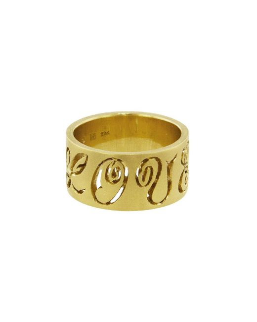 Cathy Waterman - Multicolor Wide Carved Love Band Ring - Lyst