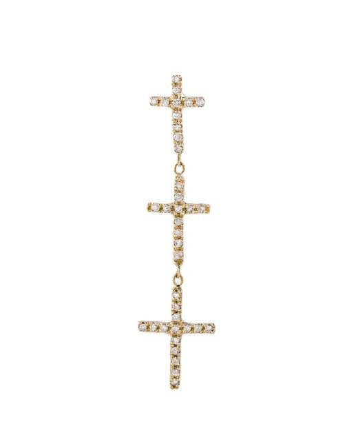 Jacquie Aiche - Metallic Diamond Graduated Triple Cross Stud Single Earring - Lyst
