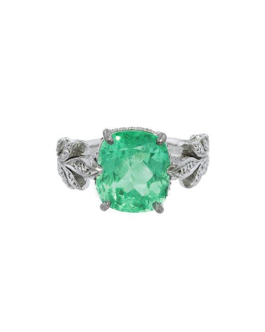 Cathy Waterman - Green Emerald Leafside Ring - Lyst