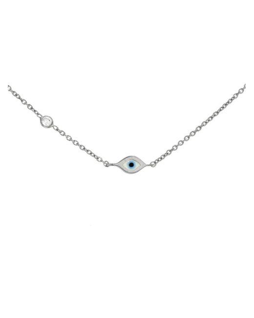 Sydney Evan - Multicolor Mini Enamel Evil Eye Necklace - Lyst