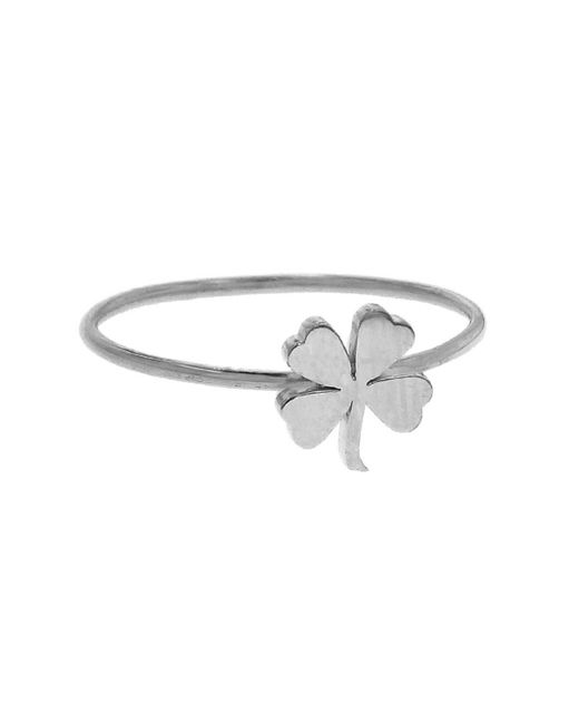 Jennifer Meyer - Multicolor Mini Four-leaf Clover Ring - Lyst