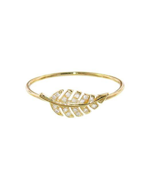 Jennifer Meyer - Multicolor Mini Leaf Diamond Ring - Lyst