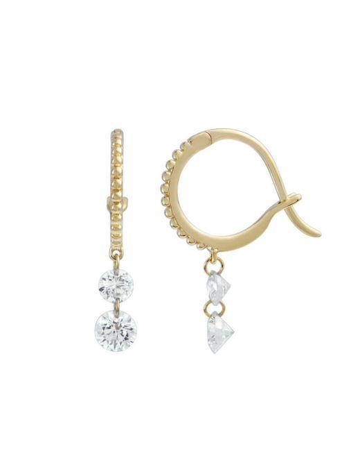 Raphaele Canot - Metallic Set Free Double Diamond Beaded Mini Hoop Earrings - Lyst