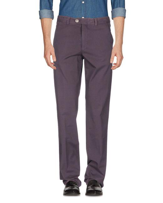 Pantalone di Zanella in Purple da Uomo